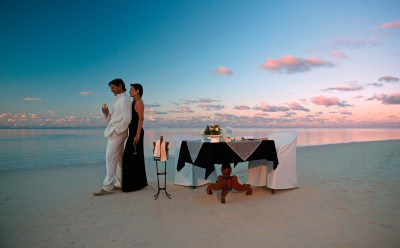 Romantic Diner on the Beach